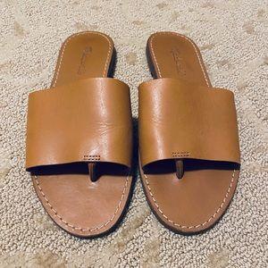Madewell Leather Boardwalk Post Slide Sandal 7